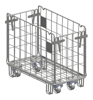 chariot frais roll conteneur produits frais stockage