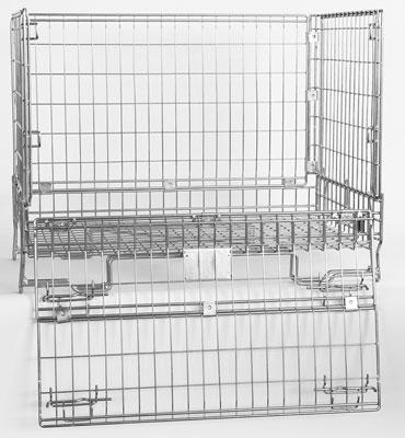 Conteneur fil industrie ouvert 180 degrés