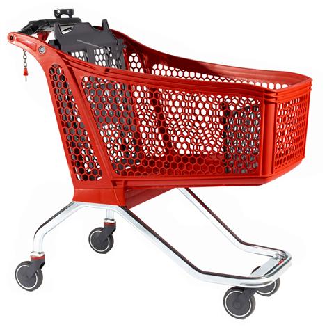 Chariot libre service H175 rouge